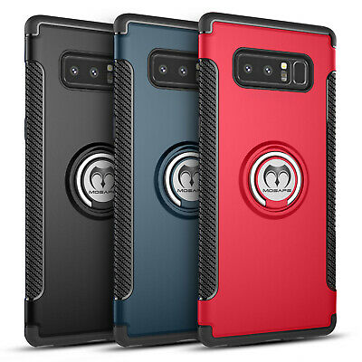 Samsung Galaxy S8 S9 Plus Note 8 Note 9 Case Shockproof Ring Stand Holder Cover