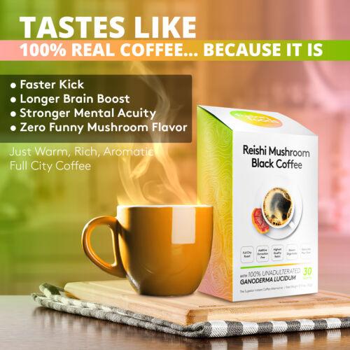 Reishi Mushroom Black Coffee  - 30 sachets By Fushion Foods ( Ganoderma Coffee )