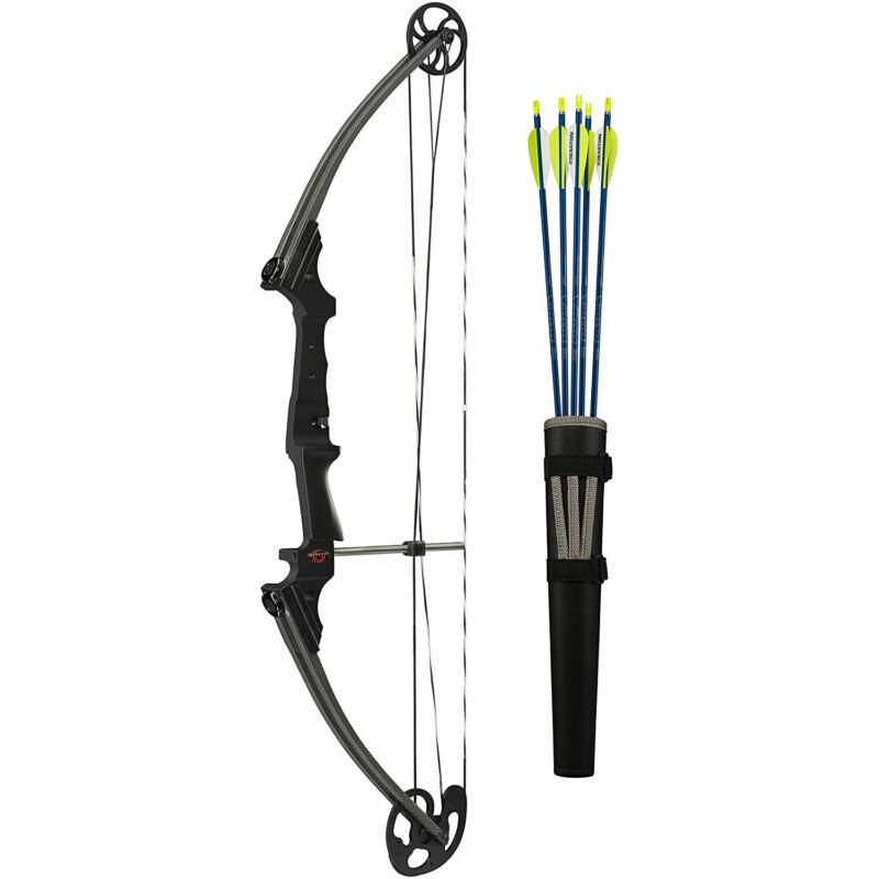 Genesis Archery Original Compound Target Practice Bow Kit, Left Handed, Carbon