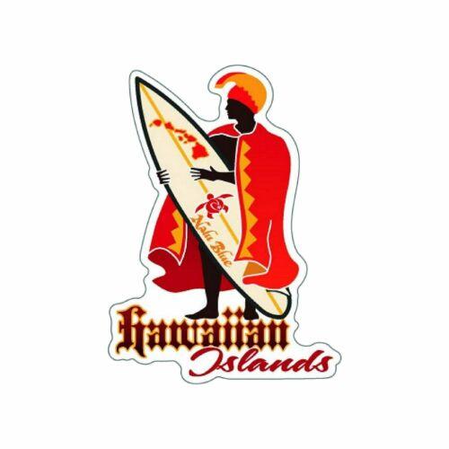 Hawaiian Islands King Kamehameha Surfboard Decal Sticker from Hawaii