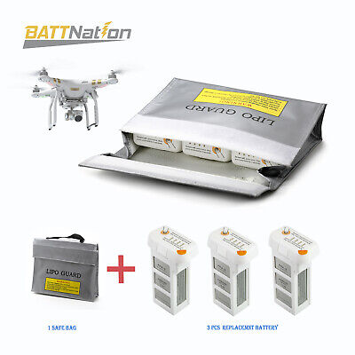 1 Bag+ 3 DJI Phantom3 Efficient Advanced Standard LiPo 4500mAh  Battery