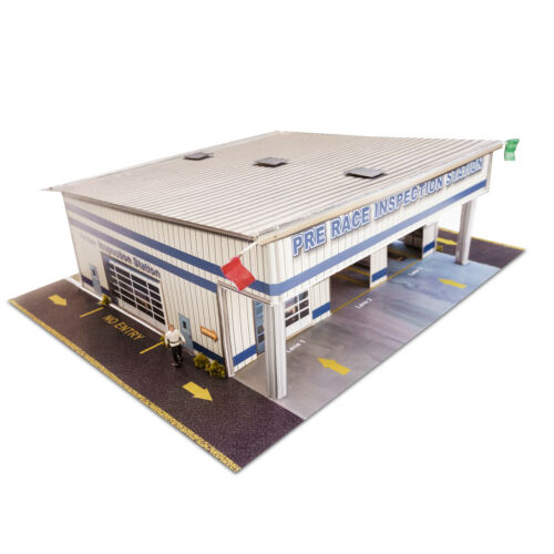 1:64 Scale Slot Car HO Pre-Race Inspection Station Building Track Layout Kit