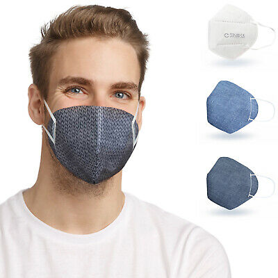 ALB Stoffe® CoverMe - 3 Cover HeiQ-Viroblock +1er Pack, MIX 4, Nasen-Mund-Masken