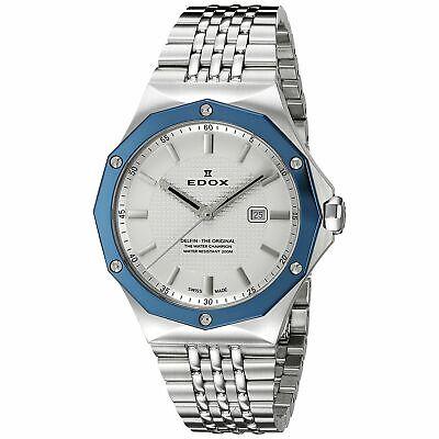 EDOX 54004 3BUM AIN Women's Delfin Blue Quartz Watch