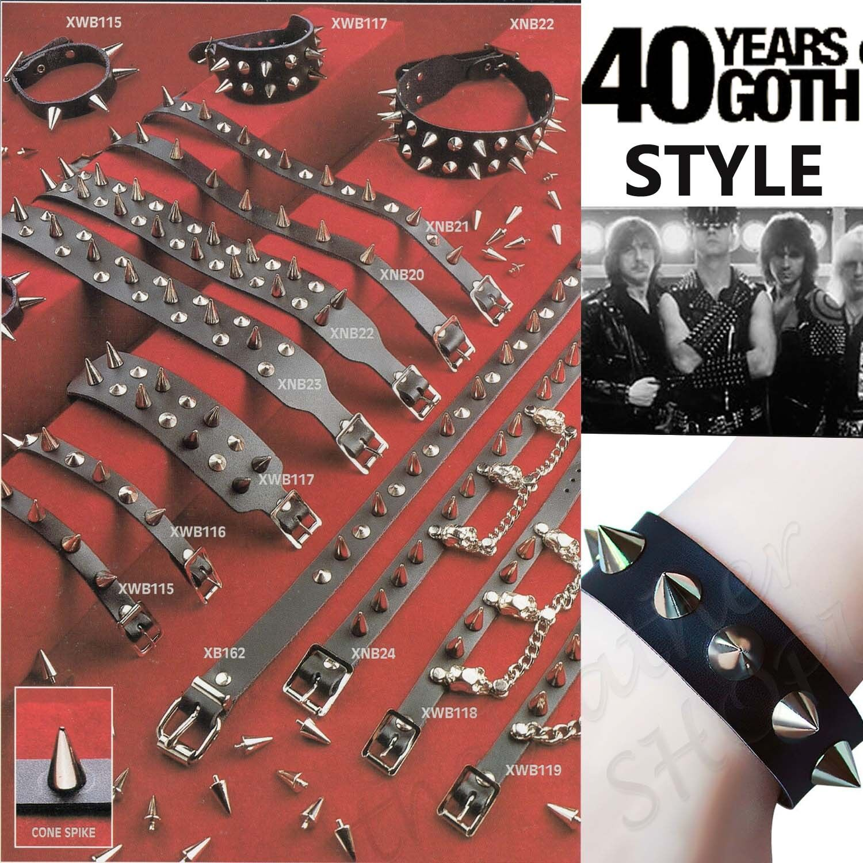 Gothic Punk Fetish Fashion New Handmade Real Leather Wristband Made In UK