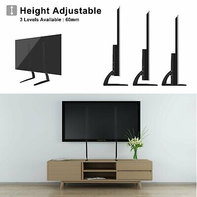 """Table-top Universal TV Stand Base Mount for 27""""-65"""" Samsung LG Vizio Sony Flat"""