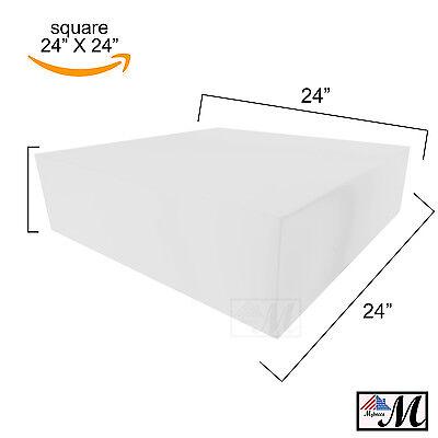 Medium Density Square Upholstery Foam Cushion Seat Replacement Pad, 24
