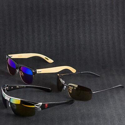 Best Selling Mens Mirror Lens Sunglasses 3 Pack Bulk Discount - Save (Best Selling Mens Sunglasses)