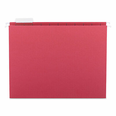 Smead Hanging File Folders 15 Tab 11 Point Stock Letter Red 25box 64067