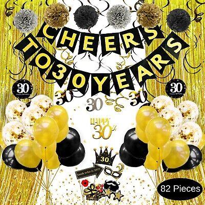 30th Anniversary Decorations (30th Birthday Decorations, 30th Anniversary Decorations, Cheers to 30)