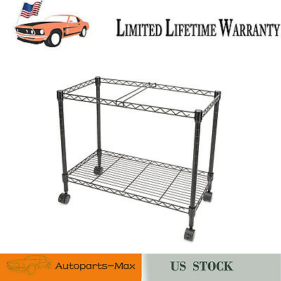 Single Tier Metal Rolling Mobile File Cart 23.6 X 12.6 X 18 Black