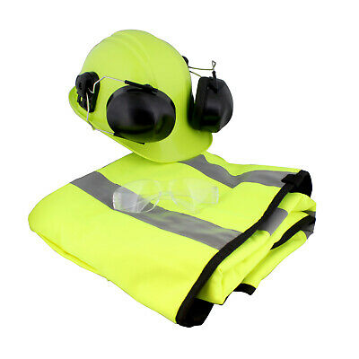 Felled Chaps Hard Hat With Ear Protection Mesh Face Shield Glasses