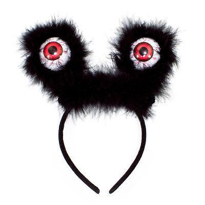 Haarreifen mit Augen Halloween Monster Grusel Horror Karneval Fasching Kostüm ()