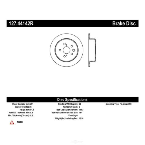 Disc Brake Rotor-Sport Drilled/Slotted Disc Rear Right