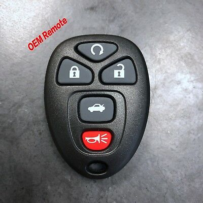 OEM GM CHEVY KEYLESS REMOTE ENTRY KEY FOB ALARM 22936101 OUC60270 / 5 BUTTON