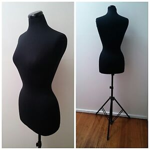 Female Torso Mannequin with black cloth and adjustable stand Croydon South Maroondah Area Preview