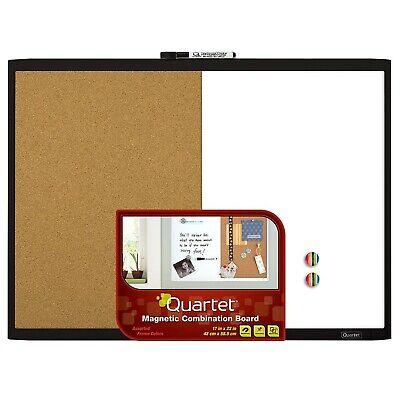 Quartet Magnetic Dry Erase Board Cork Board 17 X 23 Whiteboard Corkboa...