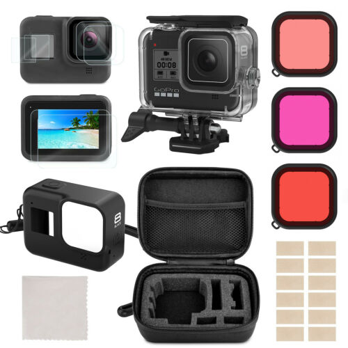 Accessories Kit for GoPro Hero 8 Black Protective Underwater Dive Housing Shell
