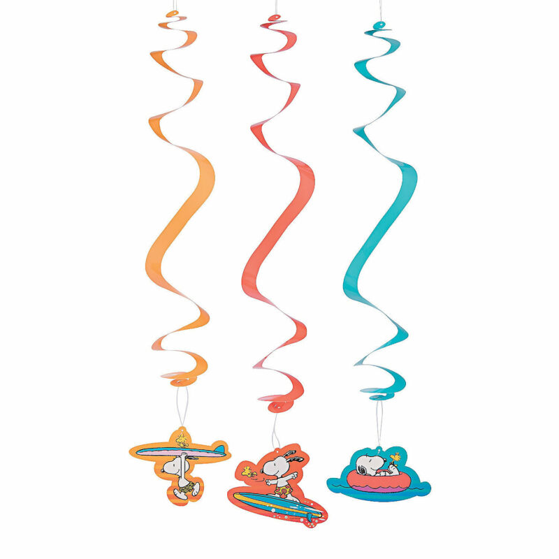 Peanuts  Summer Hanging Swirl Decorations - 12 Pc. - Party Decor - 12 Pieces