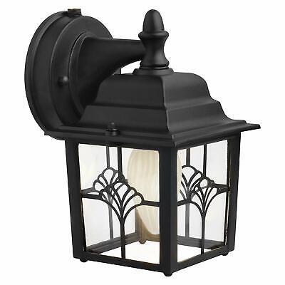 Aurora Light Fixture (Porch Light Fixture 60 Watt Dusk To Dawn Photocell Outdoor Lighting Black)