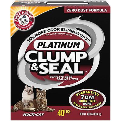 Arm and Hammer Clump and Seal Platinum Multi-Cat Litter 40 Lbs Odor-Free