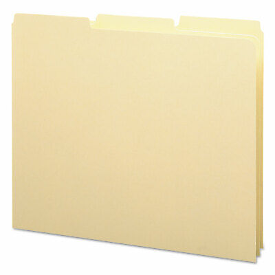 Smead Recycled Tab File Guides Blank 13 Tab 18 Pt. Manila Letter 100box 50134