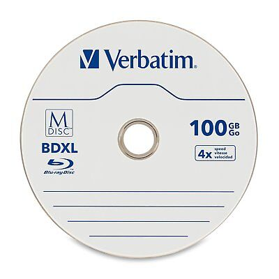 Verbatim Blu-ray Recordable Media - Bd-r Xl - 4x - 100 Gb - 5 Pack Jewel Case -
