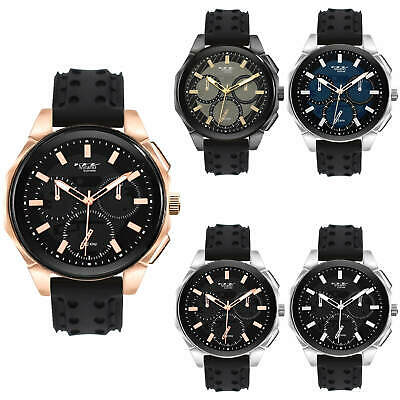 Fancy Milano Expressions Analog Metal Watch Dress Sport Fashion Men Wristwatch