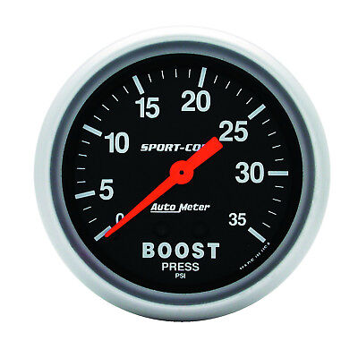 Autometer 3404 Sport-Comp Boost Pressure Gauge, 2-5/8 in., Mechanical