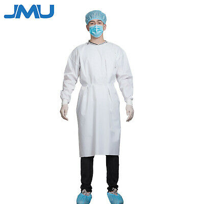 Lot Reusable Medical Dental Isolation Gown With Knit Cuff Protection Suit