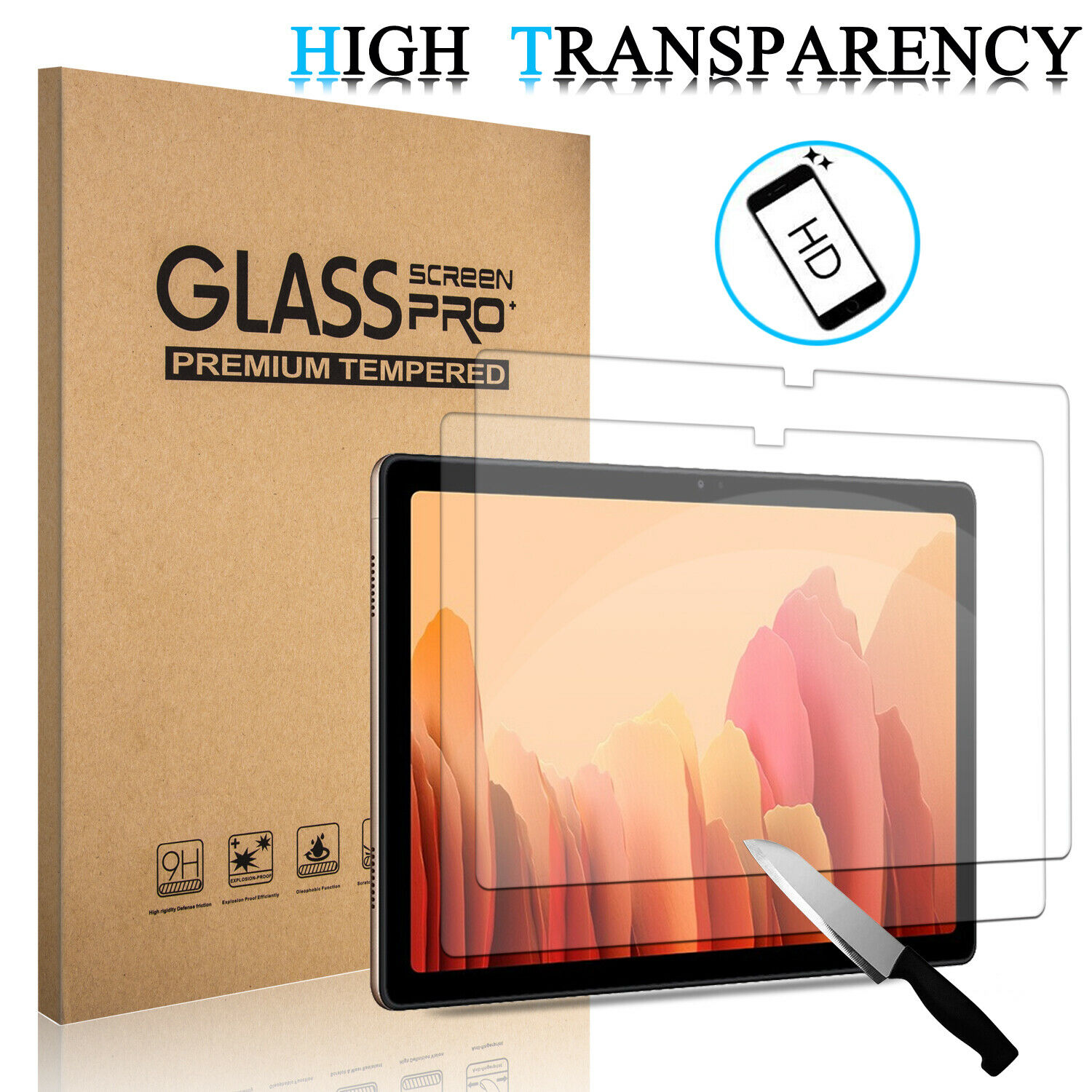 For Samsung Galaxy Tab A7 104 2020 Tempered Glass Screen Protector Film Cover