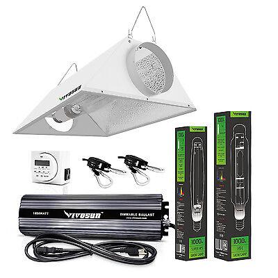 VIVOSUN 400w 600w 1000w Watt Grow Light System HPS MH Ballast Air Cool Hood Kit 400 Watt Mh Cool