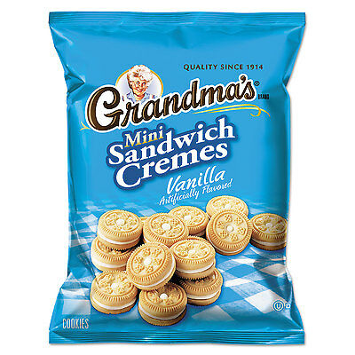 Grandma's Mini Vanilla Cr�me Sandwich Cookies 3.71 oz 24/Carton 45095