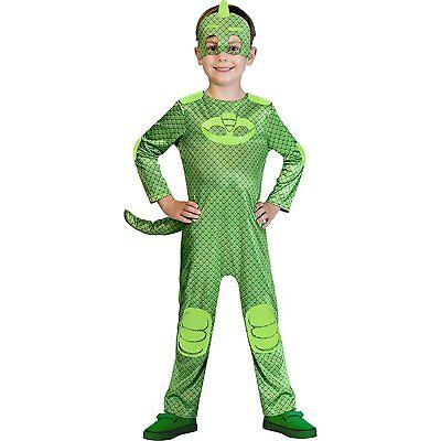 Gekko Kostüm Gr. 104 116  128 PJ - Halloween Helden Kostüme