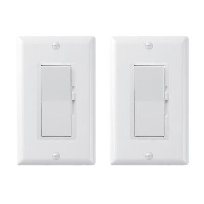 [2-Pack] Dimmer Light Switch- Single Pole or 3-Way for LED /Incandescent/ CFL