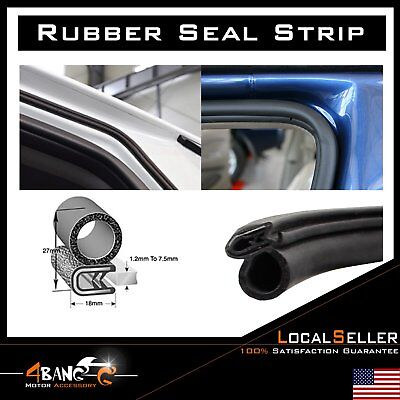 "180"" Rubber Seal Weatherstrip Strip Trim Door Edge Decorate Protect Universal"