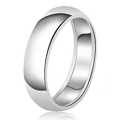 Sterling Silver 925 Couples Plain Comfort Fit Wedding Band Promise Ring 8MM 925 Comfort Fit Wedding Band