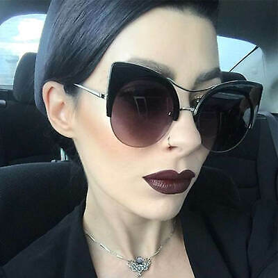 Oversized Cat Eye Women Fashion Sunglasses Cut Off Designer Frame Oval Lens  (Oversized Cat Eye Sunglasses)