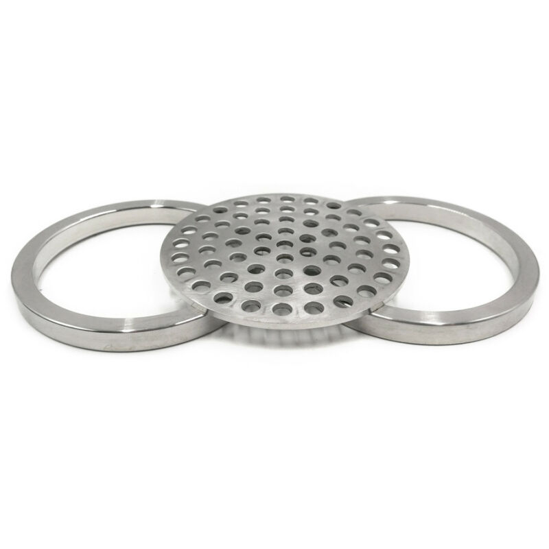 "HFS(R) 4"" Tri Clamp Filter Plate Ring Combo Set Stainless Steel"