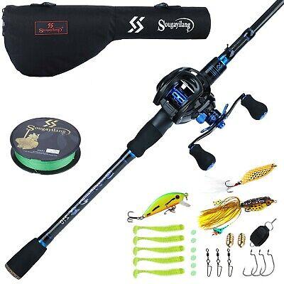 Sougayilang Baitcaster Combo Fishing Rod and Reel Combo, Ultra Light Baitcast...
