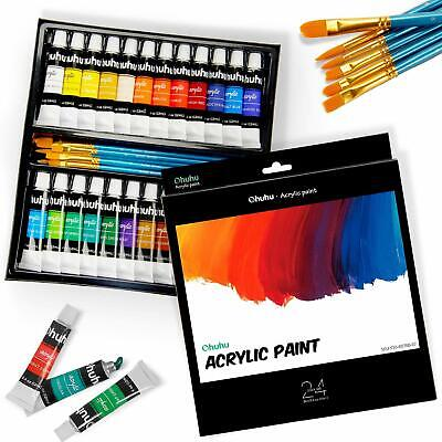 Paint For Glass Stained Hand Wine Painting Kit Acrylic Enamel Pack set 24 (Glass Enameling)