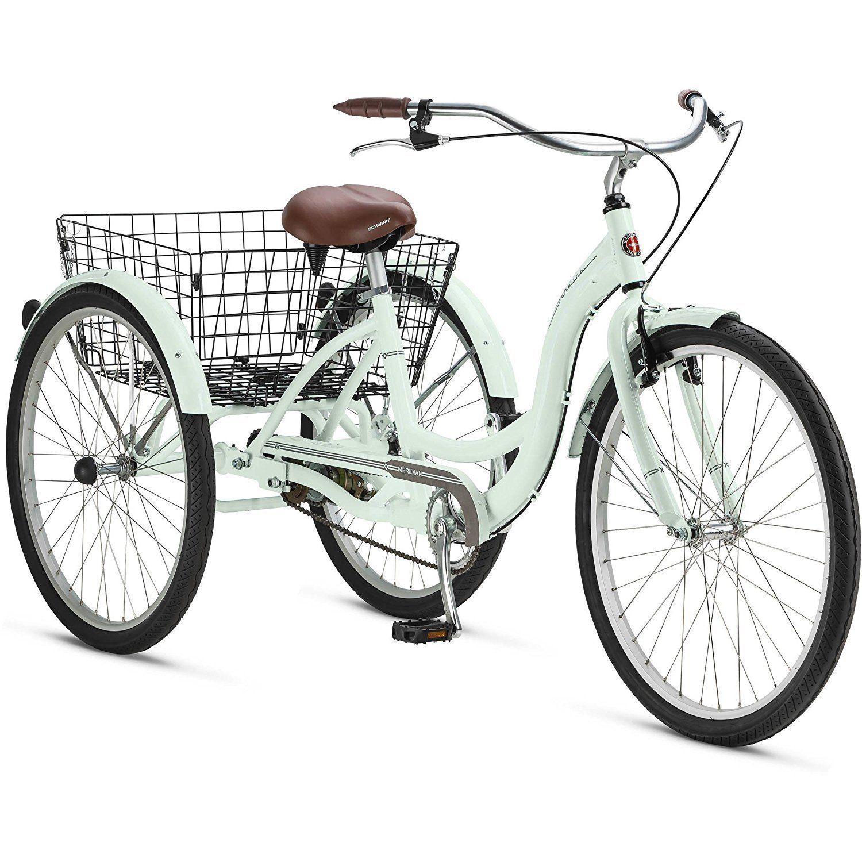 """Schwinn Meridian 26"""" Adult Tricycle 3 Wheel Bikes Adult Bicycles Basket Trike"""