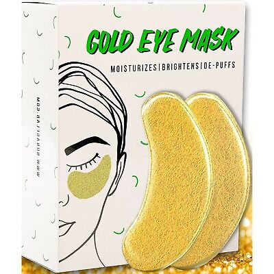 Best Under Eye Mask For Men Women Gold 24K Collagen Vegan All-Natural 15 Pairs