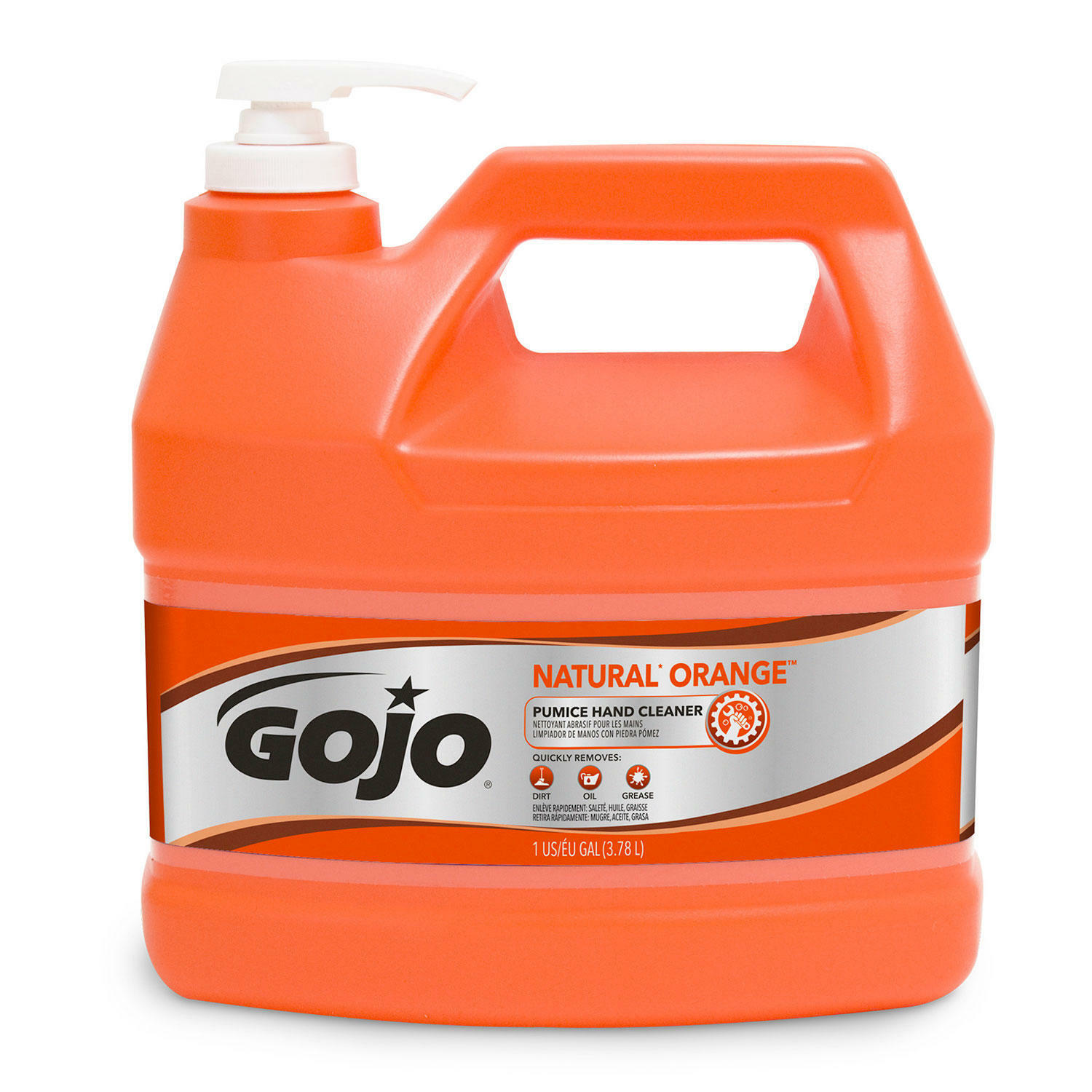 GOJO NATURAL ORANGE Pumice Industrial Hand Cleaner, 1 Gallon