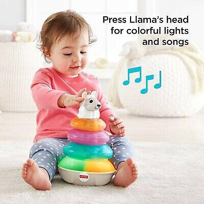 Fisher-Price Linkimals Lights And Colors Llama Stacking & Colors NEW
