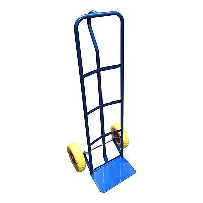 'P-Handle High Back' Steel Sack Truck with Anti Puncture Tyres and 325kg Load...