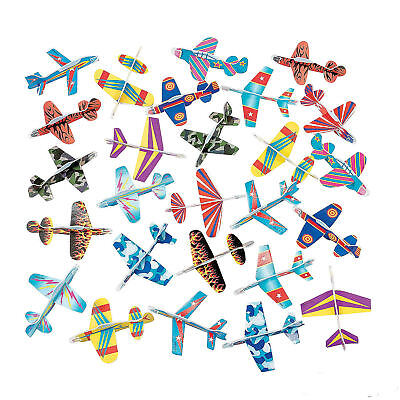 72 Gliders Foam Airplanes Jets Boy's Birthday Party Favors Toy Prize - Airplane Birthday Party