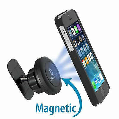 WizGear Stick On Dashboard Magnetic Car Mount Holder for Cell Phones Mini Tablet - Mini Magnetic Cell