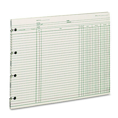 Wilson Jones Accounting 9-14 X 11-78 100 Loose Sheetspack Gn2d