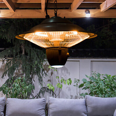 Outsunny Deckenheizstrahler Heizstrahler 1500W mit LED Terrassen Alu